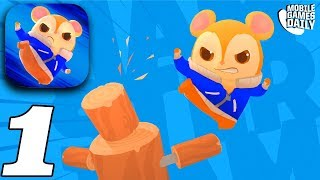HAMSTERDAM - Gameplay Walkthrough Part 1 - CANAL MINI BOSS (iOS Android)