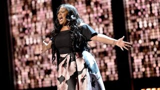 """Amber Riley Olivier Awards Performance """"And I Am Telling You"""" and Award with win speech"""