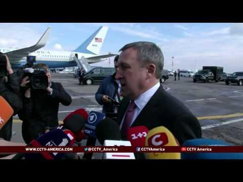 Biden arrives in Ukraine to show U.S. support
