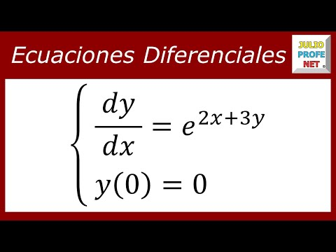 Ecuación diferencial por separación de variables-Differential equation by separation of variables
