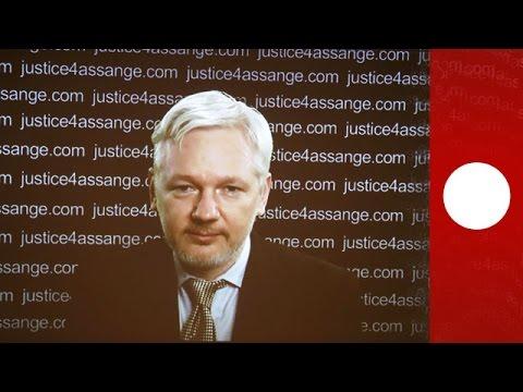 [En direct] Déclaration de Julian Assange à Londres depuis l'embassade equatorienne
