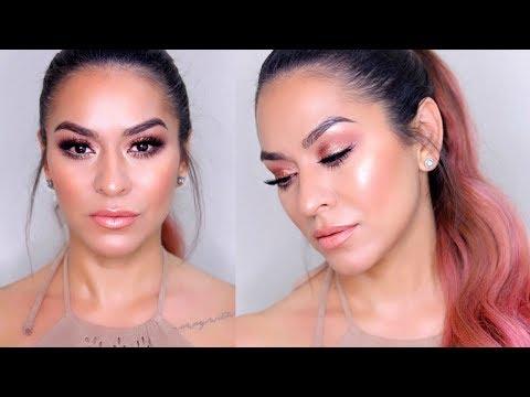Glowy Peachy Summer Makeup Tutorial | Tarte Make Believe In Yourself Palette - YouTube