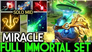 Miracle- [Storm Spirit] Full Immortal Set He's Real Monster Mid Lane 7.21 Dota 2