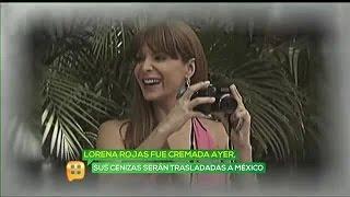 Trasladan cenizas de Lorena Rojas a México
