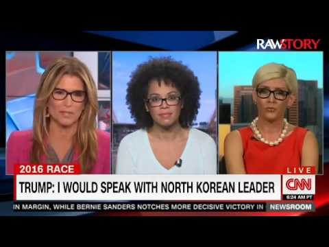 CNN's tries to get Trump's Healy Baumgardner to answer a question