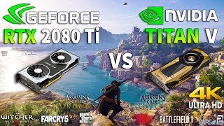 RTX 2080 Ti vs TITAN V Test in 8 Games 4K (i7 8700k)