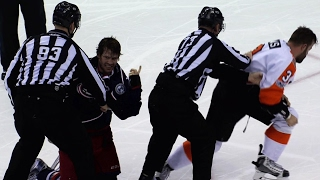 Jenner tired of taking Flyers sticks to face takes matters into own hands
