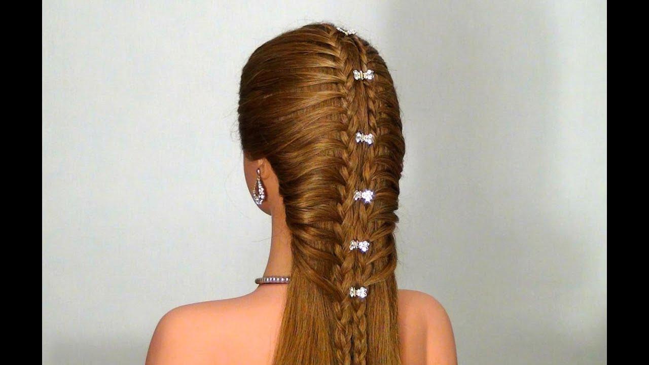 Прически на каждый день своими руками на средние волосы с плетением