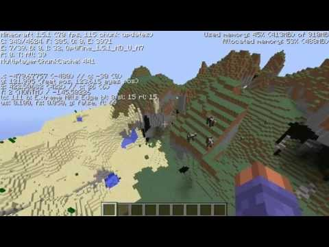 Amazing Extreme Hills biome Minecraft seed 1.5.2