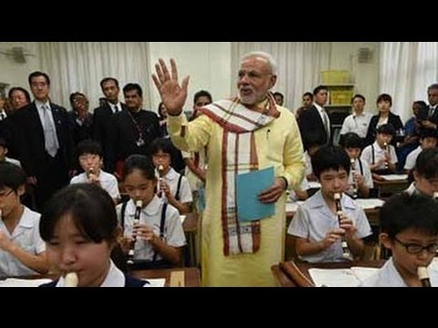 At a 136-year-old school in Tokyo, PM Narendra Modi the 'oldest student'