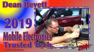 Dean Beyett's 2019 Mobile Electronics Industry's Trusted Tech submission
