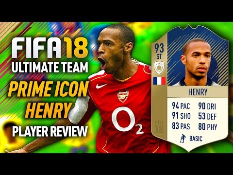 FIFA 18 PRIME HENRY (93) *STRIKER* PLAYER REVIEW! FIFA 18 ULTIMATE TEAM!