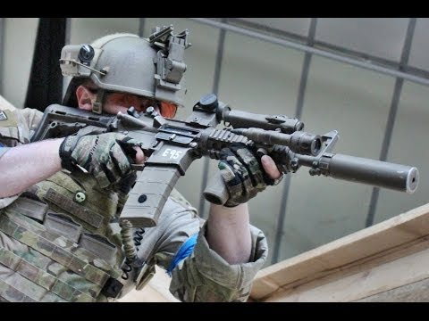 Airsoft War L96 Sniper, M249, M14 Scotland HD