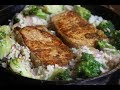 Easy Pork Chop Skillet with Rice and Broccoli | I Heart Recipes