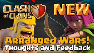 Clash of Clans | Arranged Wars Clan Challenge – Thoughts and Feedback