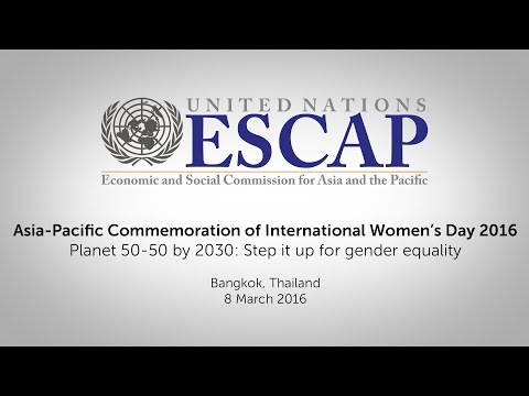 Asia-Pacific Commemoration of International Women's Day 2016