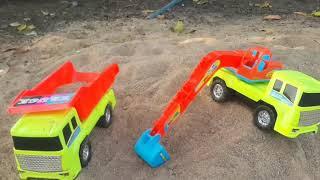 Trò Chơi máy xúc cát xây nhà xe ben xe xúc cát