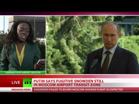 Putin: Snowden still in Moscow airport, won't be extradited
