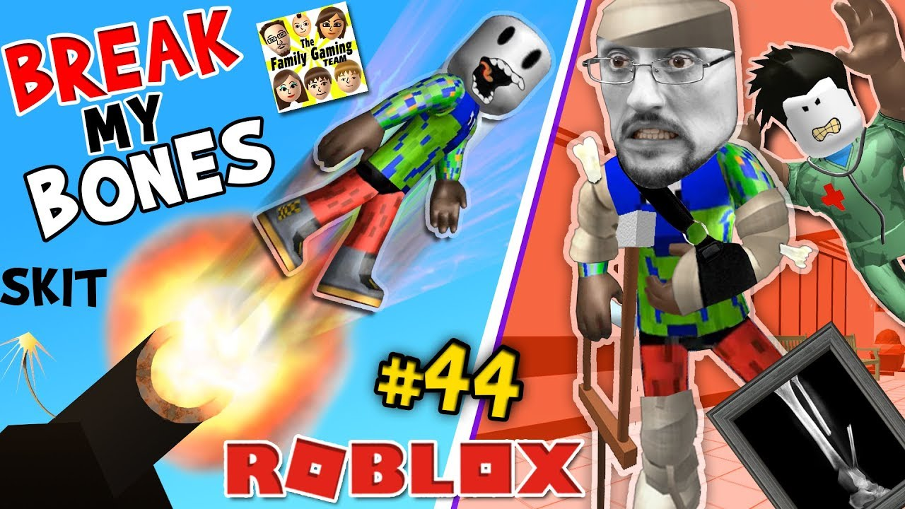 ROBLOX BREAK MY BONES PLEASE!! FGTEEV Duddy Surgery GAMEPLAY ROLEPLAY SKIT