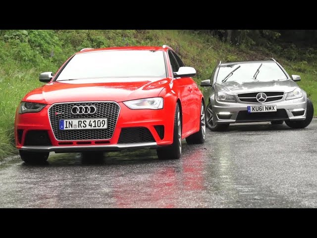New Audi RS4, Old Audi RS4s, New RS4 v C63. Phew ... - YouTube