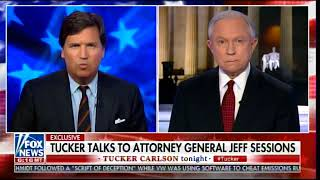 Coward Jeff Sessions Goes on with Tucker Carlson - Refuses to Condemn Mueller Witch Hunt