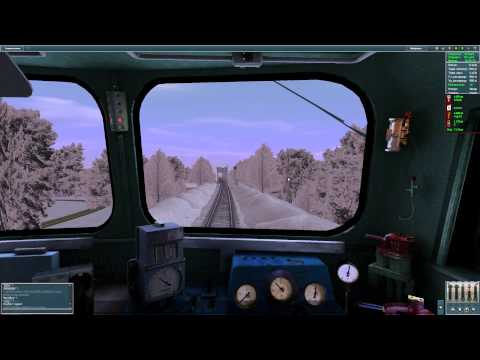 Trainz Simulator - сход с рельс