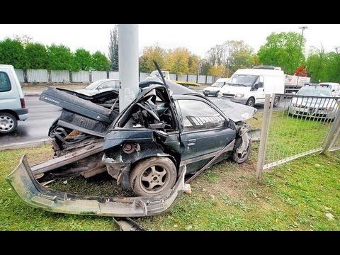 Wypadek Mitsubishi - Malina Jedziemy.... 210 Km/h (NAGARALI SWOJ WYPADEK PRZY 150 Km/h) Oryginał