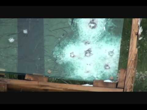 Armor Piercing 7.62x39 Rapid Fire At Bulletproof Glass