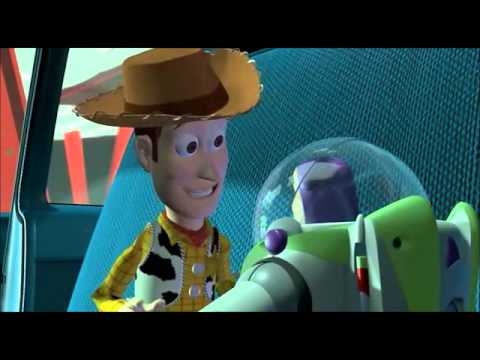 Toy Story: Buzz v Woody scene