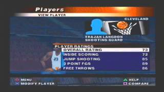 NBA Live 2000 Default Roster Player Ratings Cleveland Cavaliers