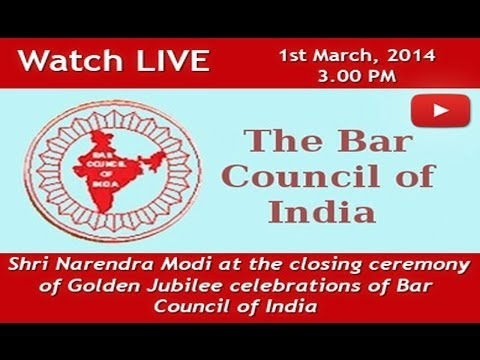 Shri Narendra Modi at the closing ceremony of Golden Jubilee celebrations of Bar Council of India