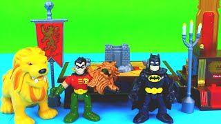 Robin Saves Batman from Imaginext Knight in armor Warriors superhero Just4fun290