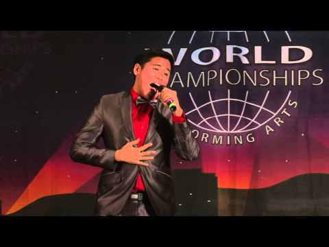 """Mark Anthony Felix Atienza performing """"Go the Distance"""" WCOPA: Vocal COntemporary"""