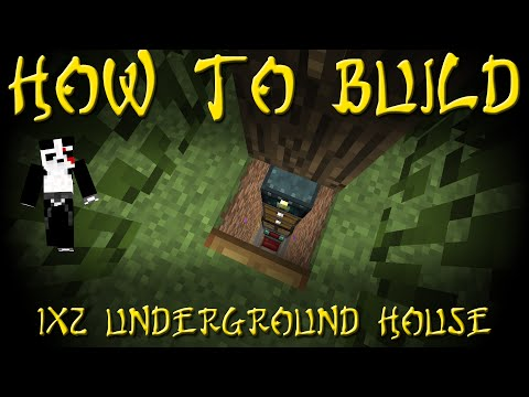☯ Minecraft - How to Build Minecraft's Smallest House - 1x2 - Tutorial #51 ☯