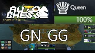 DOTA AUTO CHESS - QUEEN GAMEPLAY / CHALLENGE GAME 1 UNCALIBRATED / QUEEN PLAYER PLAYING ON LOW RANKS