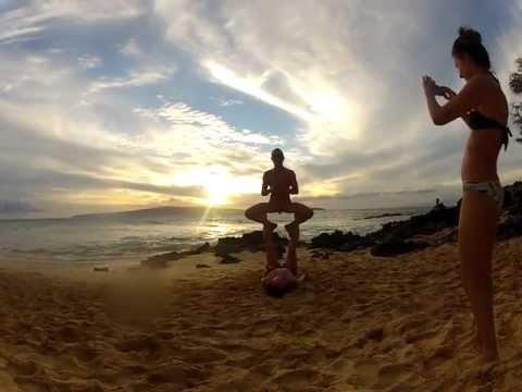 Little Beach Nude Partner Yoga 12nov2012 video