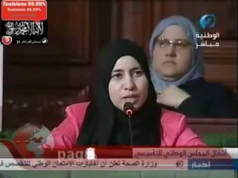 image vid�o نائبة في المجلس التأسيسي تنصف المساجين السلفيين