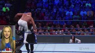 WWE Smackdown 7/17/18 AJ Styles vs Cien