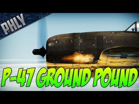 War Thunder -P-47 THUNDERBOLT! Tiger 2 Killer