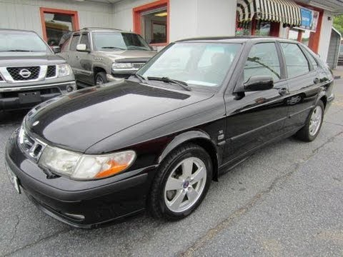 2002 Saab 9-3 SE Hatchback Start Up, Engine, and In Depth Tour