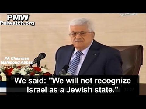 Abbas says he won't recognize Israel as Jewish state; claims Israel plans to displace Israeli Arabs