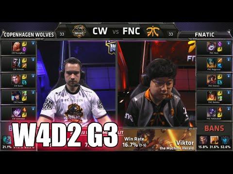 Copenhagen Wolves vs Fnatic   S5 EU LCS Summer 2015 Week 4 Day 2   CW vs FNC W4D2 G3