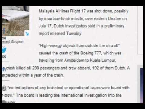 Dutch experts say outside objects cause of MH17 crash