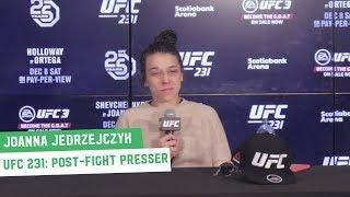 Joanna Jedrzejczyk | UFC 231 Post-Fight Press Conference