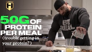 MUSCLE BUILDING MEALS | GETTING YOUR PROTEIN IN (trouble eating your meals?) | Fouad Abiad