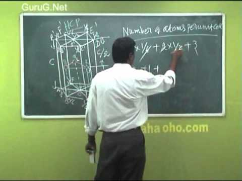 Calculating for HCP Structure - Engineering Physics - Anna University Chennai