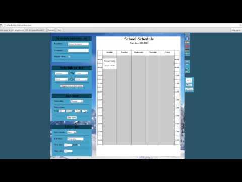 College Schedule Generator Free College Schedule Maker