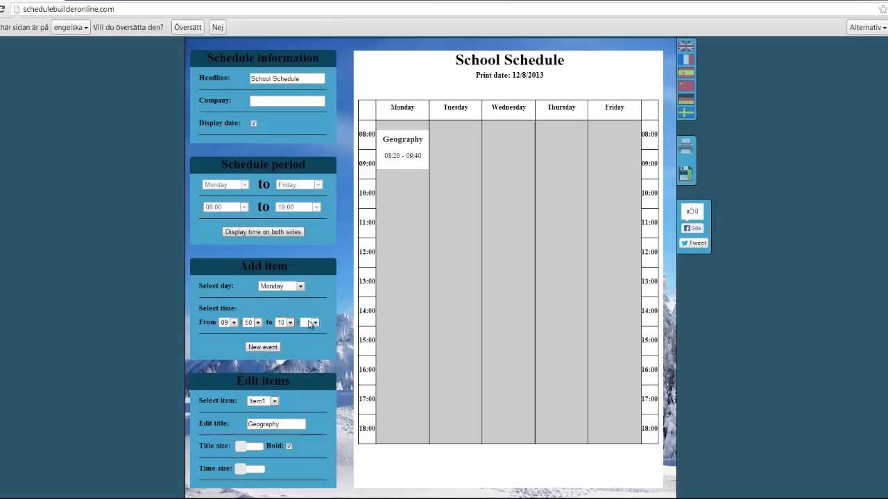 free college schedule maker    schedule builder