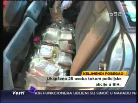 Hapšenja u BiH, Keljmendi umakao