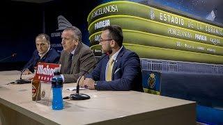 Rueda de prensa presentación Estadio de la Cerámica